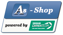 Logo A-Shop powered by Merkur Direkt.com